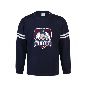 Junior Long Sleeve Navy T-Shirt