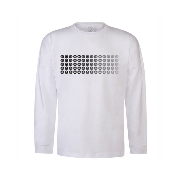 Junior White Long Sleeve T-Shirt