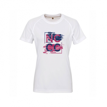 Ladies White Athleisure T-Shirt