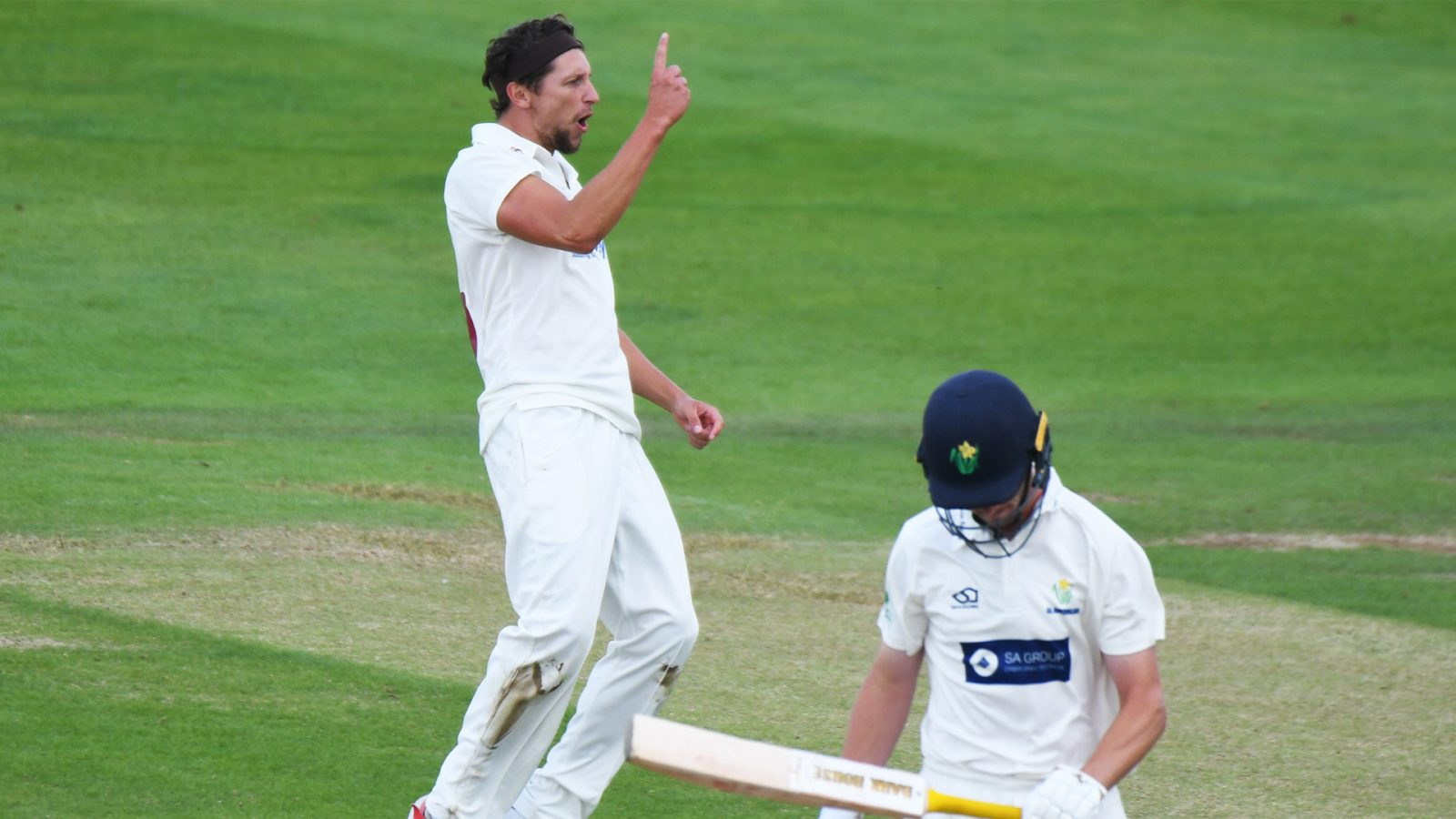 White And Hutton Share Wickets On Day 1