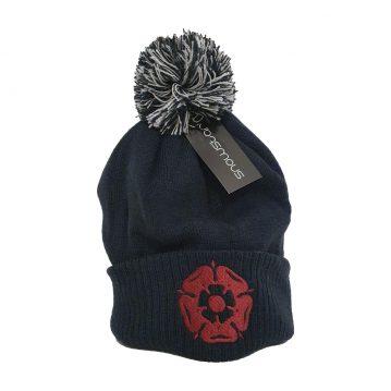 Rose Navy Bobble Hat
