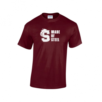Maroon Made Of Steel T-Shirt