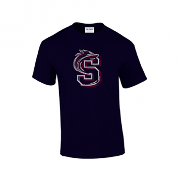 Navy Steelbacks Outline T-shirt
